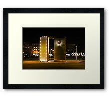 "Monument ""100 Years of Independence"" Framed Print"