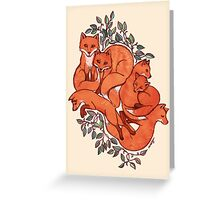 Fox Tangle Greeting Card