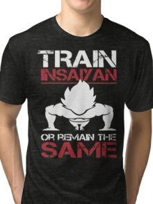 Train INSAIYAN or Remain SAME Tri-blend T-Shirt