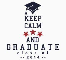 Keep Calm and graduate Kids Clothes