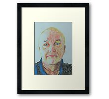 The man with sadness in his eyes Framed Print