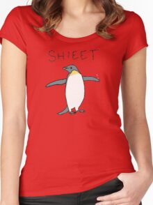 shieet a penguin Women's Fitted Scoop T-Shirt