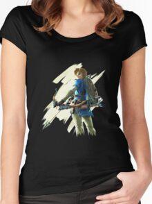 Link zelda breath of the wild Women's Fitted Scoop T-Shirt