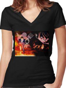 Sanji Women's Fitted V-Neck T-Shirt