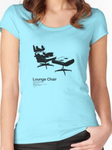 Lounge Chair /// Women's Fitted Scoop T-Shirt