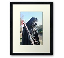 He's coming for you.......... Framed Print