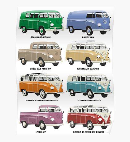 VW T1 Samba range Poster