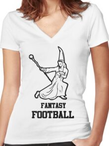 Fantasy Football Funny Women's Fitted V-Neck T-Shirt