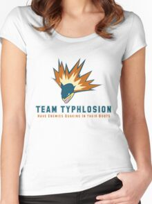 Team Typhlosion  Women's Fitted Scoop T-Shirt