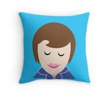 MIDWIFE womans face in a blue uniform Throw Pillow
