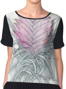 Pink Quill Chiffon Top