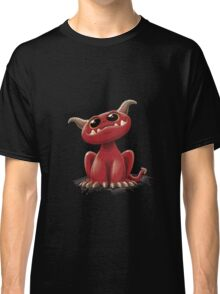 Cute red monster - on black Classic T-Shirt