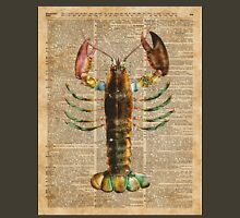 Lobster Crustacean Mediterranean Sealife Vintage Dictionary Art Collage Unisex T-Shirt