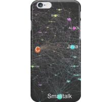 Network Graph of Programming Language Influence 2013 - Dark Background iPhone Case/Skin