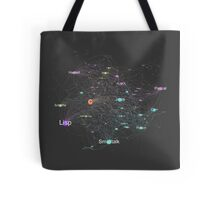 Network Graph of Programming Language Influence 2013 - Dark Background Tote Bag