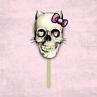 Kit n Cat skull lollipop by KristyPatterson