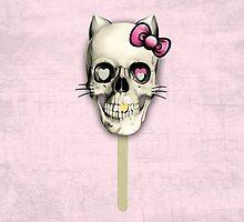 Kit n Cat skull lollipop by KristyPatterson