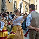 Umbrian Folk Dancing, la festa dell'uva, Panicale, Umbria by Andrew Jones