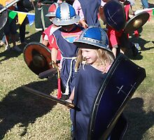 Children Dress up for battle at Medieval Fayre by JimmyChi
