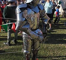 Shiny Steel Warrier at Medieval Fayre by JimmyChi