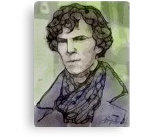 BBC Sherlock - Benedict Cumberbatch Fan Art Canvas Print