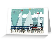the penguin express Greeting Card