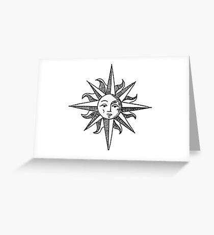 Sun Compass Greeting Card
