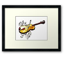Violin with Notes Framed Print
