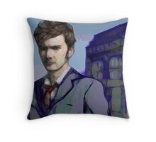 Doctor Who - Tenth Doctor Fan Art Throw Pillow