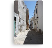 narrow street of the old  Canvas Print