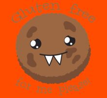 Gluten free for me please with cute kawai cookie monster Kids Tee
