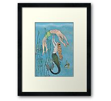 The Mermaid and the Prince Framed Print