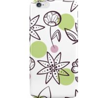 Seamless Pattern Magic Flowers iPhone Case/Skin