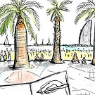 Barceloneta Beach - Barcelona - www.cycleyourheartout.com by Sarah  Bayaidah