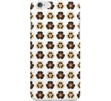 Recycle Flower Pattern (on white) iPhone Case/Skin