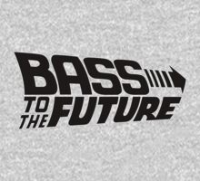 Bass to the Future (black) One Piece - Long Sleeve