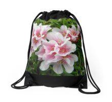 Pink Armeria Drawstring Bag