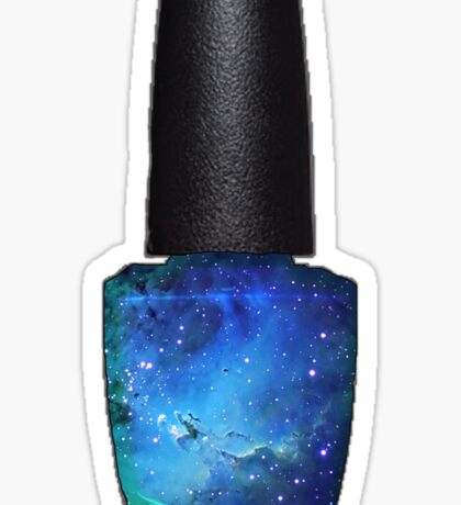 Blue Galaxy Nail Polish Sticker