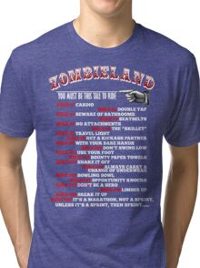 This tall to ride Zombieland - White Tri-blend T-Shirt