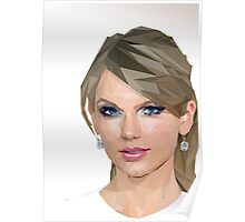 Taylor Swift - LowPoly Portrait Poster