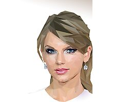 Taylor Swift - LowPoly Portrait Photographic Print