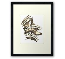 Lynn! I've Pierced My Foot on a Spiiike! Framed Print