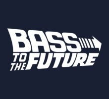 Bass to the Future (white) Kids Tee