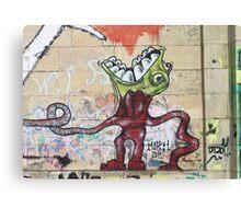Weird Graffiti Monster Canvas Print