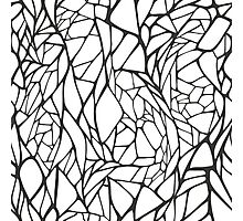 Black and white hand drawn geometric pattern Photographic Print