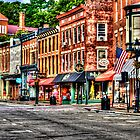 Galena Main Street Early Summer Morning by Roger Passman