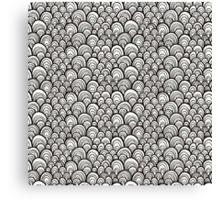 Black and white scale ornamental pattern Canvas Print