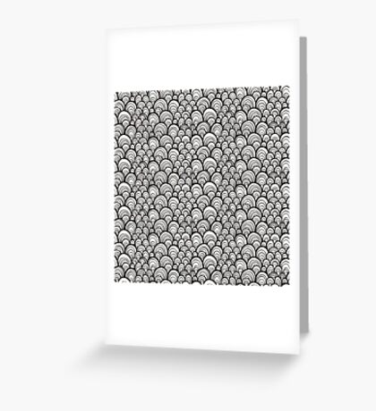 Black and white scale ornamental pattern Greeting Card