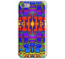 Rainbow City, abstract 3-d design iPhone Case/Skin