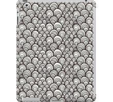 Black and white scale ornamental pattern iPad Case/Skin